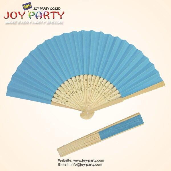 10pcs / lot 21cm albastru de culoare Hârtie Fan de mână Nunta - Produse pentru sărbători și petreceri