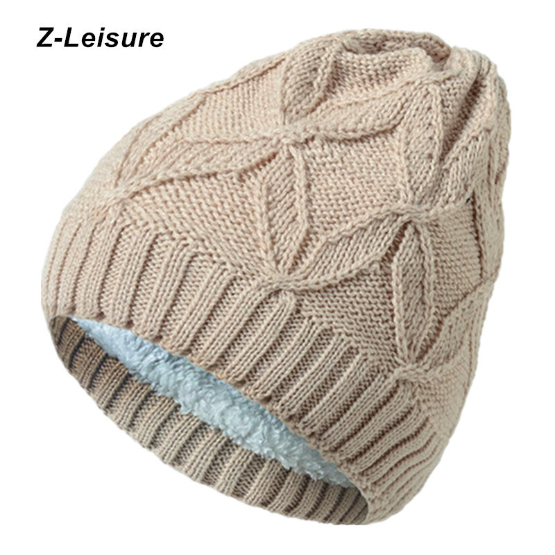 Knitted Solid Cap Unisex   Skullies     Beanies   Fashion Winter Hats For Women Casual Cotton Women's Hat Female Winter Cap KC140