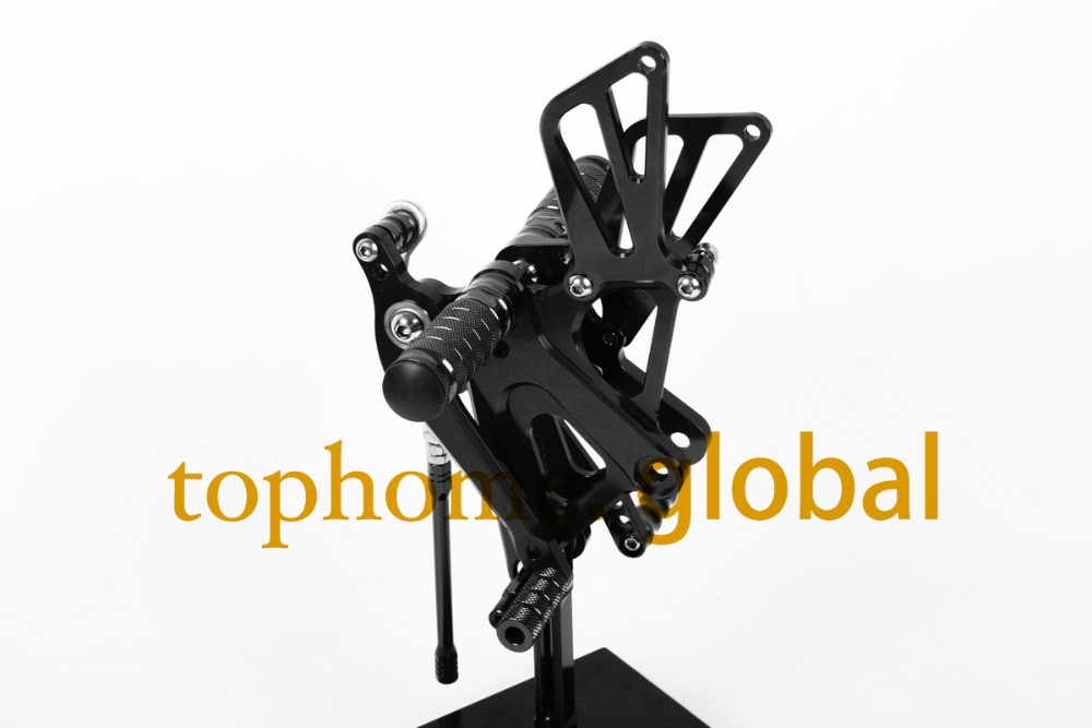 Free Shipping Motorcycle Parts Black CNC Rearsets Foot Pegs Rear Set For Honda CBR250RR 2010-2013 2011 2012 motorcycle foot pegs free shipping motorcycle dark grey cnc rearsets foot pegs rear set for suzuki sv650 sv650s motorcycle foot pegs