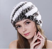 Real Rex rabbit fur knitted hat autumn and winter fashion women's thermal pineapple hat women casual caps beanies skullies все цены