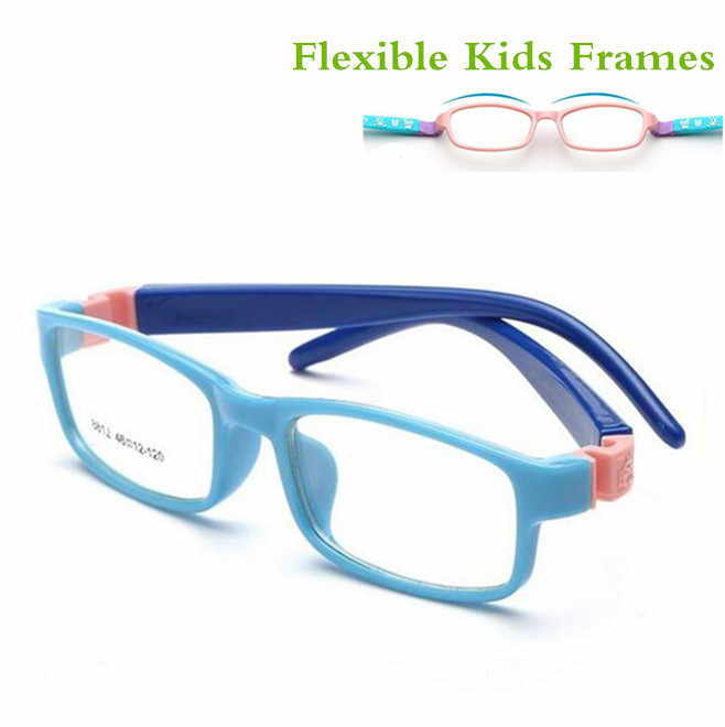 TR Eyeglasses Kids Frames Eyewear Optical Glasses Prescription Glasses Children Flexible Rubber No Screw Bendable Amblyopia 8812