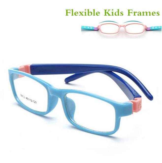 TR Eyeglasses Kids Frames Eyewear Optical Glasses Prescription Glasses Children Flexible Rubber No Screw Bendable Amblyopia 8812
