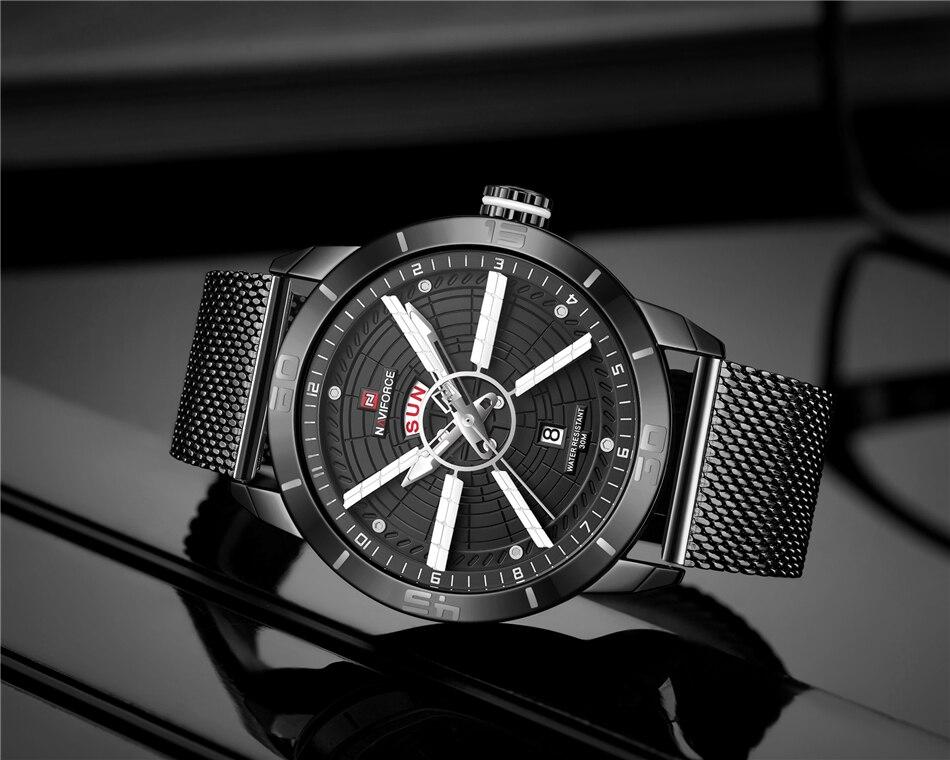 NAVIFORCE Mens Watches Top Brand Luxury Quartz Watch Men Full Steel Men Watch Sport Fashion Business Watches Relogio Masculino 22