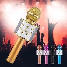 Профессиональный беспроводной караоке микрофон KTV динамик портативный Bluetooth мобильный телефон микрофон пой песня Поддержка Android IOS TF карта