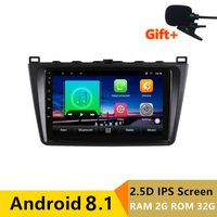 9 2G RAM 32G ROM Android Car DVD Player GPS for Mazda 6 Ruiyi Ultra 2009 2010 2011 2012 2015 audio car radio stereo navigation