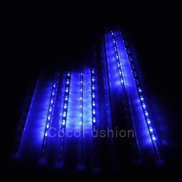 HENYNET 30CM Meteor Shower Rain Tubes LED Light for Christmas Wedding Garden Decoration