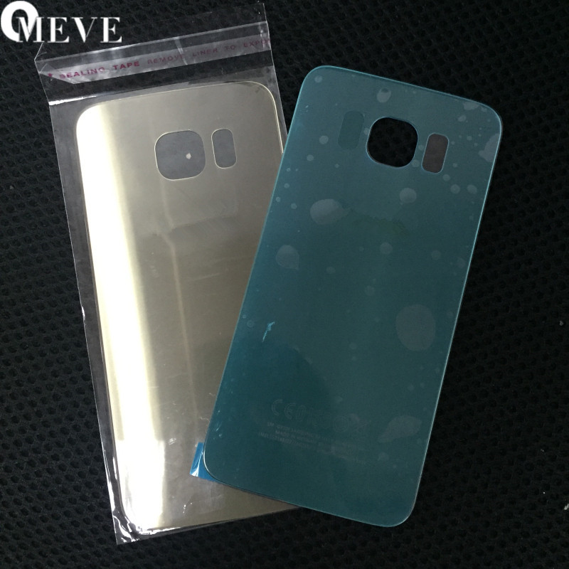 100% For SAMSUNG Galaxy S6 S6edge Back Glass Battery Cover Housing Case Replacement For SAMSUNG GALAXY G920F G925F