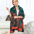 New Hot Sale Luxury Brand Cashmere Blanket Scarf Winter Pashmina Colorful Elegant Wheel  Print Scarf Women Shawl Wholesale