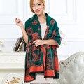 New Hot Venda Da Marca de Luxo Cobertor de Cashmere Inverno Cachecol Pashmina Colorida Roda Elegante Mulheres Impressão Cachecol Xale Atacado