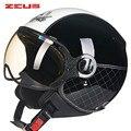 ZEUS Motorcycle Helmet Chopper Open Face Vintage Helmet 210c6 Moto Casque Casco motocicleta Capacete Pilot Men Women Helmets