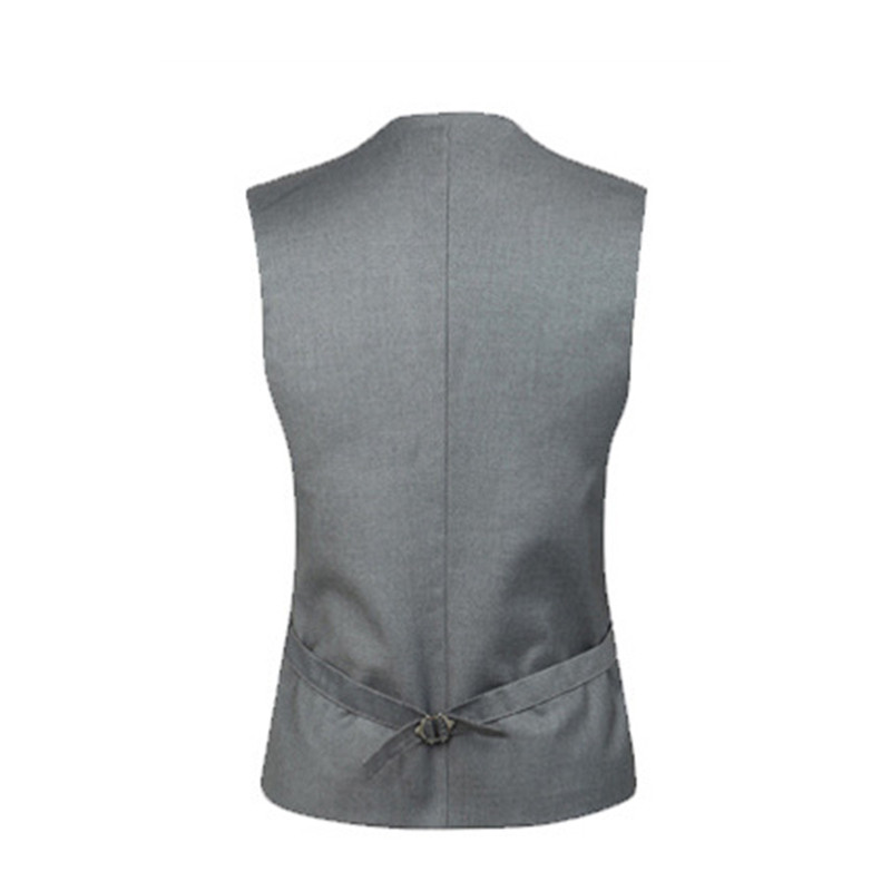 Brand Clothing Mens Double Breasted Dress Suit Vest Men Formal Black Gray Vests Suit Gilet High Quality Colete Masculino