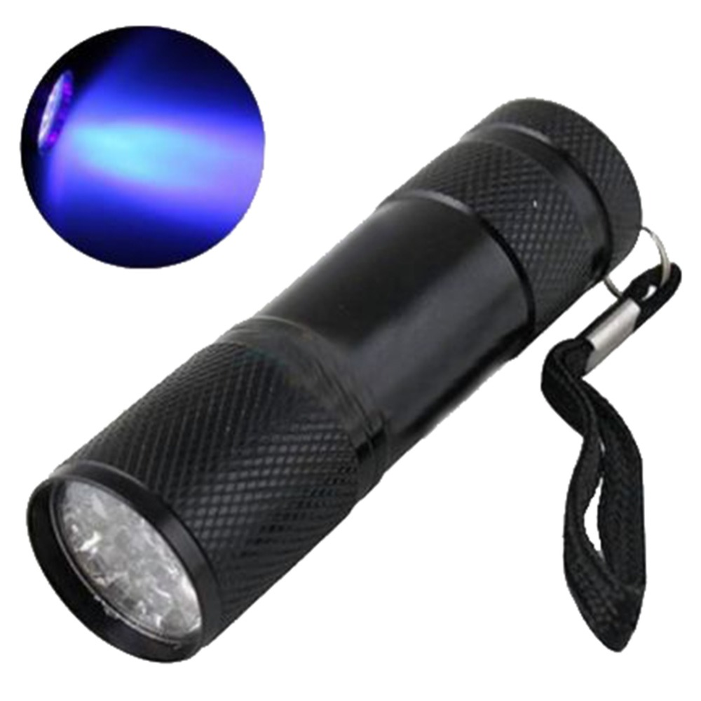 Lights & Lighting Methodical 1 Pc 9 Led Uv Flashlight Black Mini Aluminum Portable Lights Uv Ultra Violet Blacklight Torch Light Lamp Flashlight Exquisite Craftsmanship; Led Flashlights