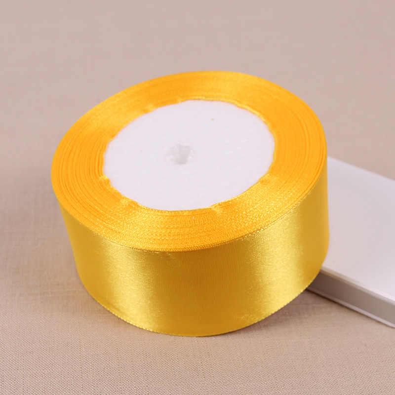 25yards Seide Satinband Gold Sliver Wrapping Weihnachten Dekorative DIY 6mm JE