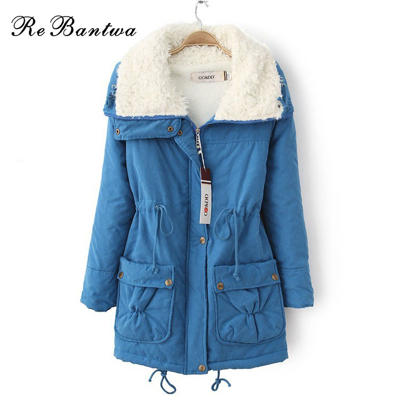 Rebantwa Autumn Winter Jacket Coat Women Parka Woman Clothes Solid Long Jacket Plus Size Women's Winter Jackets And Coats 2016 olgitum new autumn winter jacket coat women parka woman clothes solid long jacket slim women s winter jackets and coats cc107