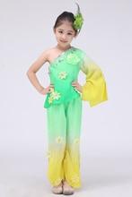 Chinese Folk Dance Custom Children Dance Clothing National Costume Hanfu Yangko Dance Suit for Girls