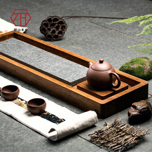 [Yan Mountain] natural bamboo in Wujin wood / stone tea tray revel new Chinese bamboo tea factory wholesale