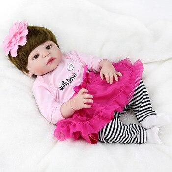 Full Body Silicone Reborn Baby Girl Dolls Reborn Reborn Can Bath  Bebe Reborn Babies Dolls for Children Juguetes Bonecas