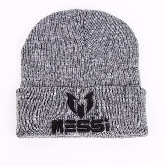 VORON New Soccer Messi Fans Hat women Men Skullies Black Gray Women Beanie Whiter Hats Beanies Warm Knitted Hat Wool Cap Gorros