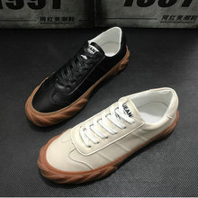 High quality Italian design Fashion Comfortable Men's Black white flats Leather