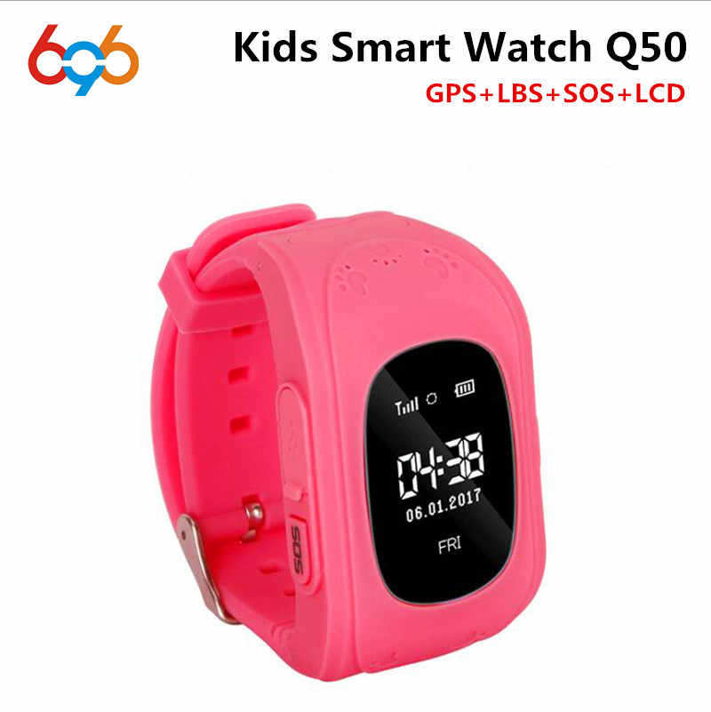 696 HOT Q50 Smart watch Children Kid Wristwatch GSM GPRS GPS Locator Tracker Anti-Lost Smartwatch Child Guard for iOS Android