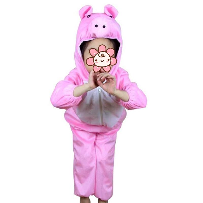 ღ ღ2018 niños cerdo rosado animal Costume niño niña stage ...