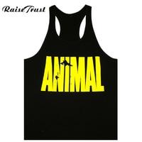 Men Gym Stringer Tank Top Mens Gymshark Bodybuilding Fitness Mens Singlets GYM Animal Sports Clothes Muscle
