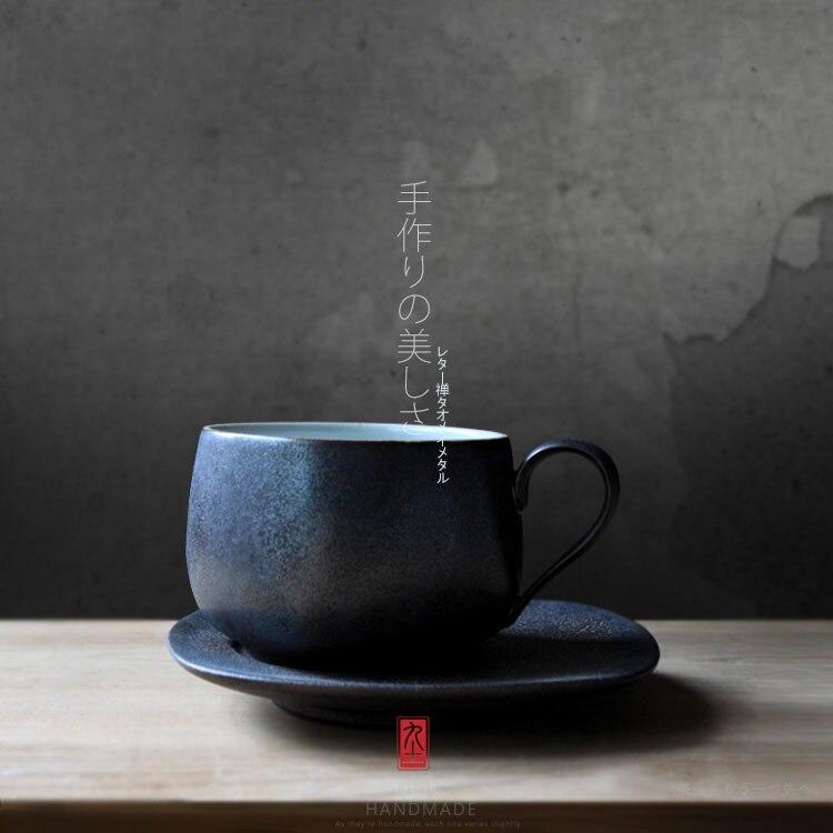 brand 100% handmade coffee mugs Japan simple style creative breakfast milk tea mug with tray high quality limited quantity cups