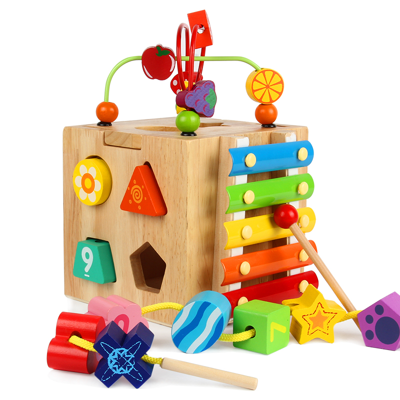 1PCS Children's Educational Treasure Around The Pearl Beads Baby Toy Building Blocks Of Boys And Girls