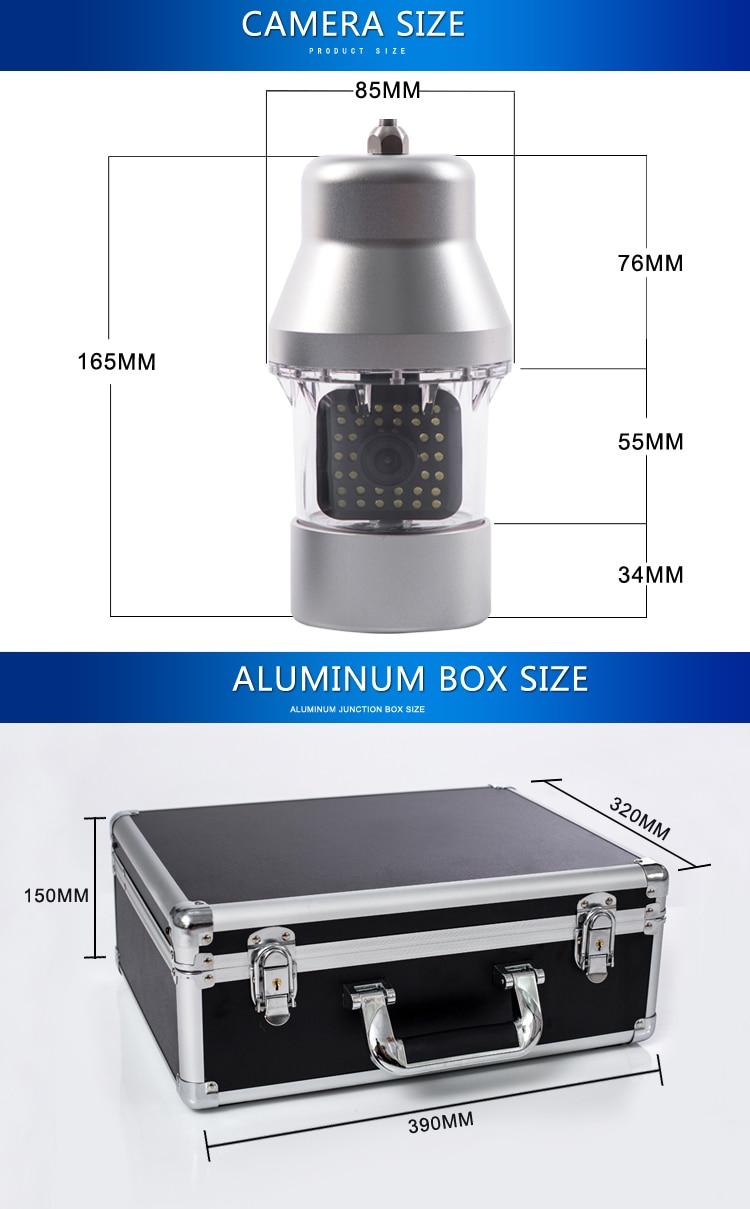 Syanspan на расстоянии до 20 м/50 м/100 м Кабель для программирования в Камера Рыболокаторы 1000TVL подводная рыбалка Камера 36 светодиодов 360 градусов вращающийся 7 дюймов ЖК-дисплей монитор