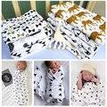 Infant Toddler Algodón Toalla Swaddle Muselina Aden Anais Envolver Manta Mantas de Bebé Recién Nacido Lindo