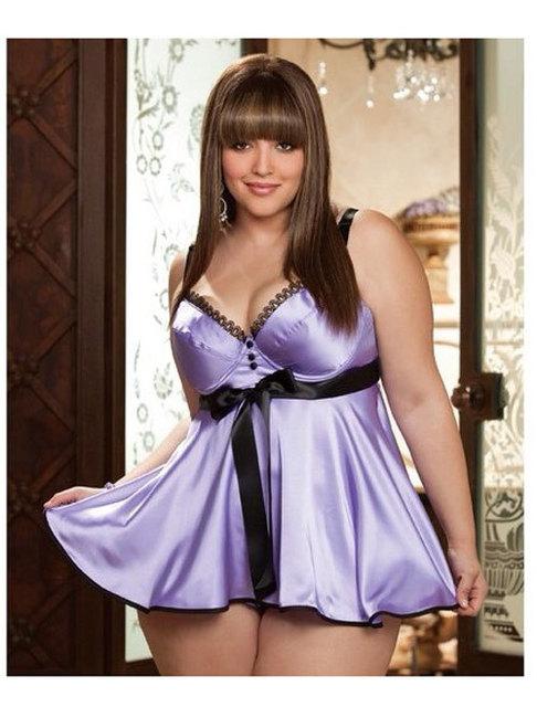 Hot Erotic Women Silky Sexy Pajamas Nightdress