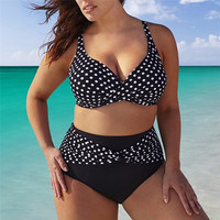 Black Swimsuit Large Size 2018 Bikini Swimwear 5xl 4xl Bathing Suits For Women Beachwear Swim Wear