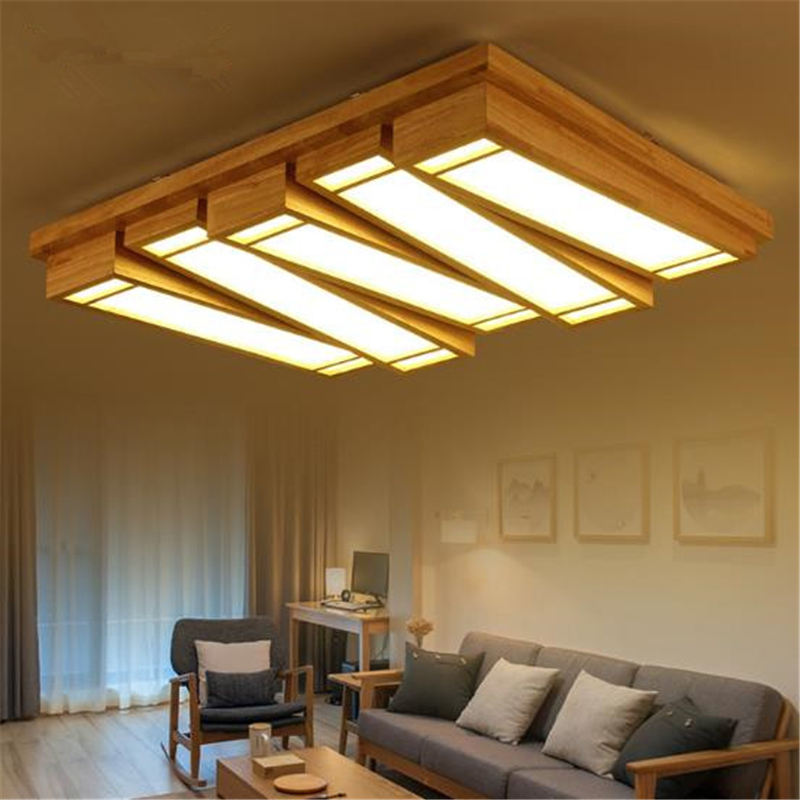 Japanese Style Personality Solid Wood Light Stepless Dimming Bedroom Living Room Ceiling Light LED Lamp Free Shipping nothern europe black white color pendant lamp wood japanese style restaurant light bedroom light free shipping