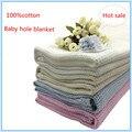 Super Soft 100%cotton Crochet Baby Blanket 75*100cm Blankets Newborn Prop Mantas E Cobertores Crib Casual Sleeping Hole Wrap