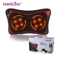 Head Neck Body Massage Pillow Heating Kneading Home Car Dual Use Body Cervical Lumbar Waist Leg Pain Relief Massager Health Care