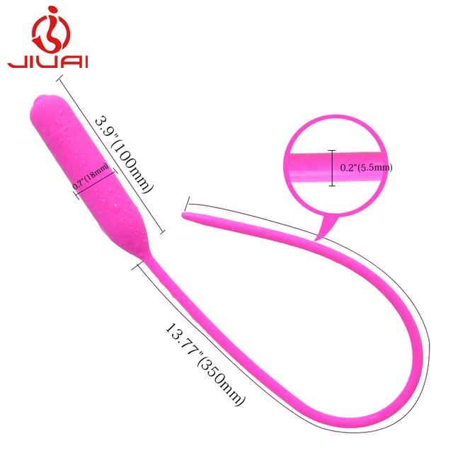 JIUAI MYB Male Erotic Urethra Stimulation Vibrator Sex Products Silicone Urethral Sounds Toys,Urethra Masturbation Products