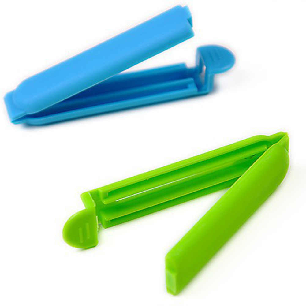 5/10Pcs Portátil New Kitchen Food Snack Bolsa Clipes Sealer Braçadeira de Vedação Selo De Armazenamento de Plástico Ferramenta de Acessórios de Cozinha