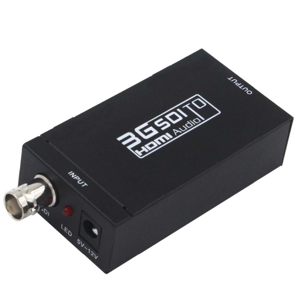 Mini HD 1080P 3G SDI To HDMI Converter Box HDMI Adapter Support SD/HD-SDI/3G-SDI Signals(US Plug)