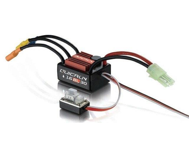 F17871/3 Hobbywing QUICRUN WP16BL30/WP10BL60/WP8BL150 Regulador de Velocidad 30A/60A/150A 2-6 S Lipo BEC Brushless ESC para el Coche de RC