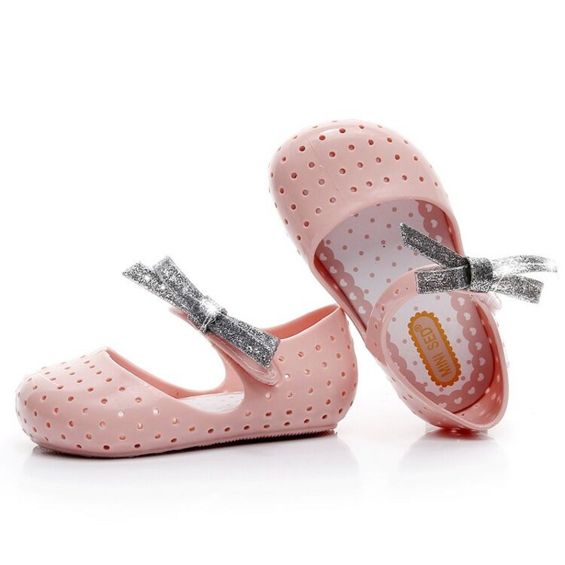Free Ship 2018 Mini Melissa New Jelly Childrens Casual Shoes waterproof Kids Shoes Sandals 3 color Kids Shoes Baby Shoes
