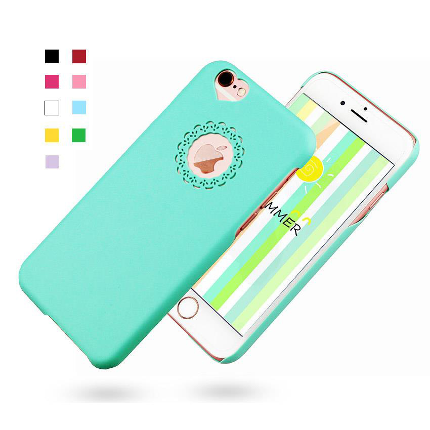 NganSek Phone Case For iPhone Cute candy Color Loving