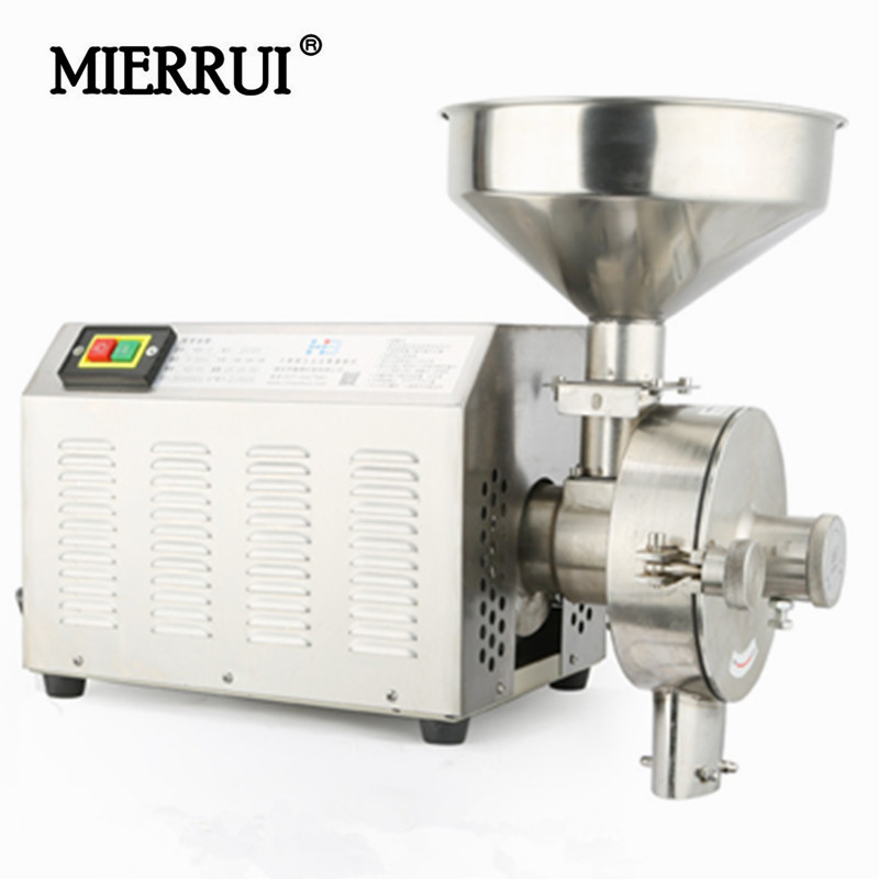 2016 Hot Sale Food Mills  household/commerical stainless steel high power spices/ soybean/grain/nut/ beans grinder electrico fast food leisure fast food equipment stainless steel gas fryer 3l spanish churro maker machine