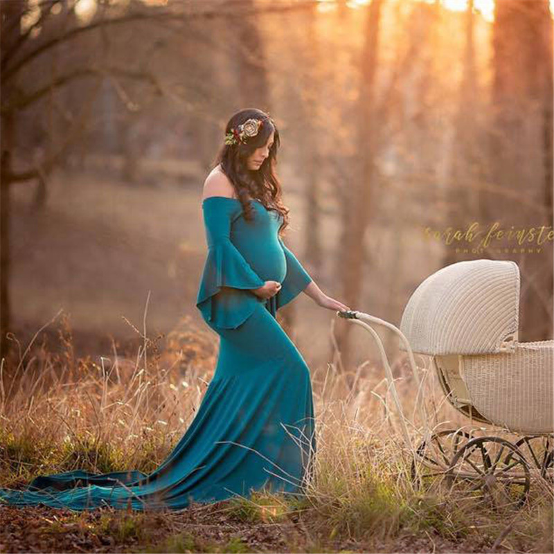 2018 vestidos maternidad para fotografia Women Pregnants Sexy Photography Props Off Shoulders Long Dress electric shock mosquito killer lamp led solar powered camp tent bulb light no radiation mosquito trap waterproof outdoor decor