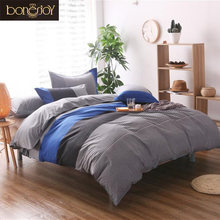 Bonenjoy Blue White Striped Quilt Covers Plaid Colorfull Bedspread Striped Bedding Sets For King Size Bed 2/3pcs Bedding(China)