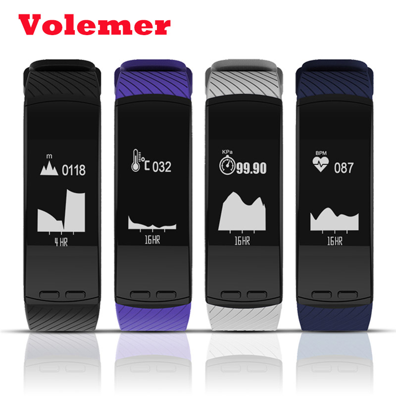 Newest Hot P5 Smart Bracelet GPS Location Outdoor Sports Band Heart Rate Altitude Barometer theromometer Temperature