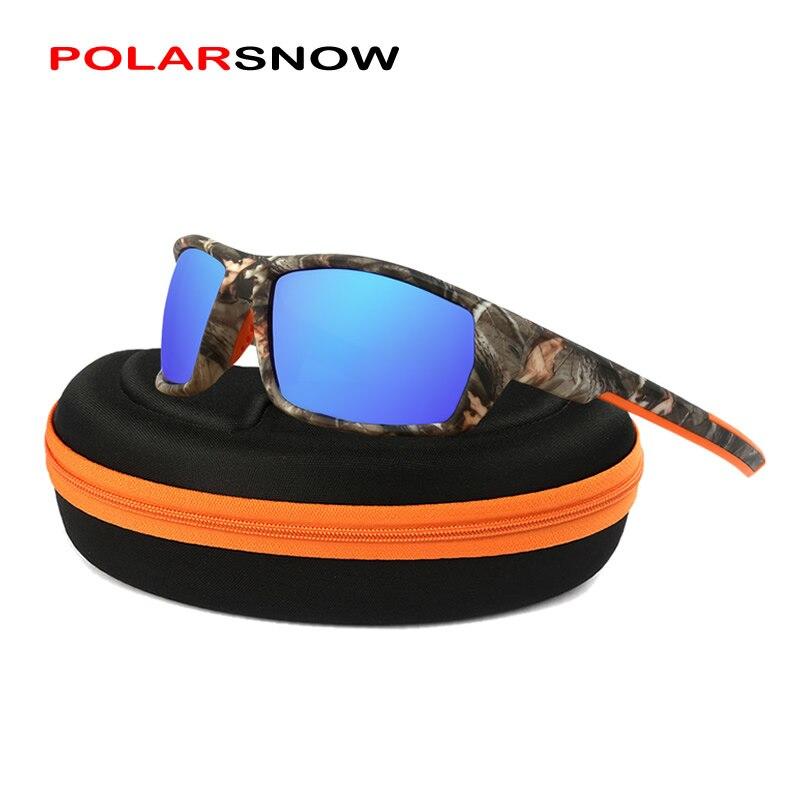 POLARSNOW 2018 Top Quality Brand Camo Frame Sun Glasses Polarized Lens Men Fishing Sports Sunglasses Goggle UV400 Eyewear PS8621