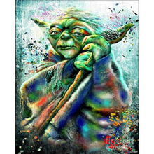 Star Wars Yoda Master diamond Embroidery diy painting mosaic diamant 3d cross stitch pictures H678