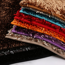 Bright Multi-color Chenille Ground Mat 40x60cm High Quality Memory Foam Solid Mats