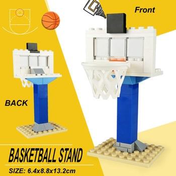 De baloncesto para cancha de baloncesto de conjunto de bloques de construcción 3D de construcción de ladrillo juguetes bloques de juguete educativos para los niños