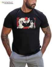 Hand Silkscreen Printed T Shirt From My Original Graphic Illustrations Series Gay Bear Pride